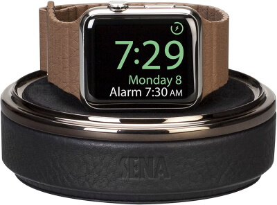 Sena Leather Apple Watch Charging Case