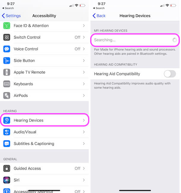 Setup Hearing Aids Device with iPhone