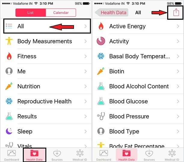 Steps to backup/ Export All health data Restore Health App data on iPhone