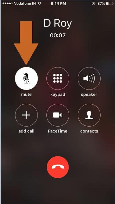 Mute or hold call on iPhone call