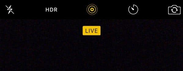 Enable Live Photo on iPhone