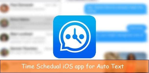 Set text Schedule on iPhone, iPad