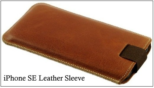 iPhone SE guanine leather sleeve