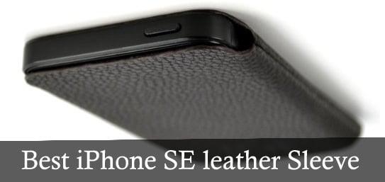 Best iPhone SE leather Sleeve by Dockem USA