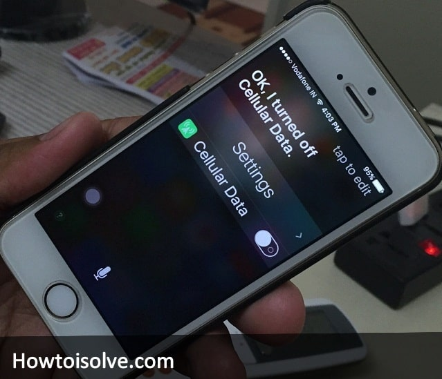 How to Turn off Cellular data on iPhone iOS 9