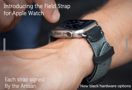 Field Strap For Apple Watch made from italian leather