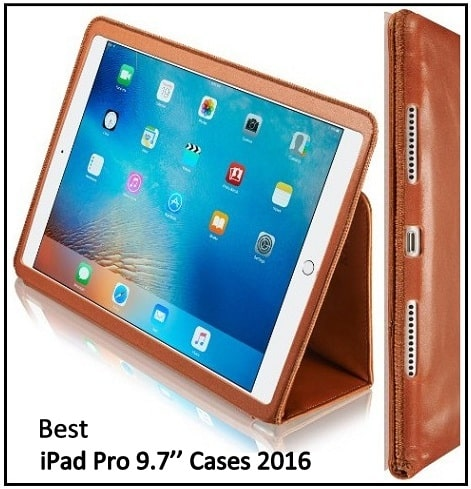 Leather case for iPad Pro with Apple Pencil Holder