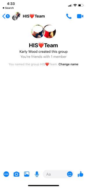 Start Group Conversation on Facebook Messenger