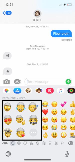 Use Custom Memoji Sticker on iPhone From Emoji Keyboard