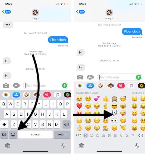 Use Custom Memoji from iPhone Emoji Keyboard