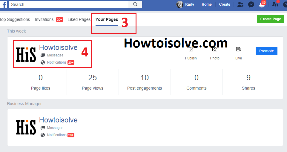 from your page open a facebook page that you want to delete