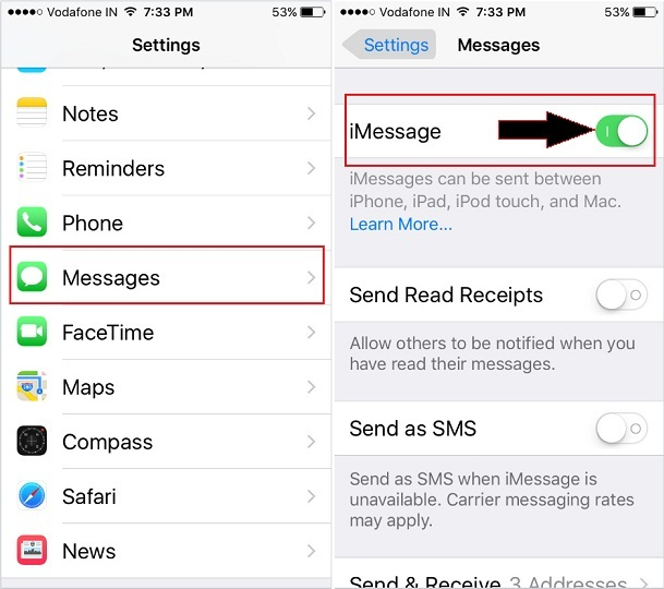 iMessage Stopped Working iOS 9, iOS 10