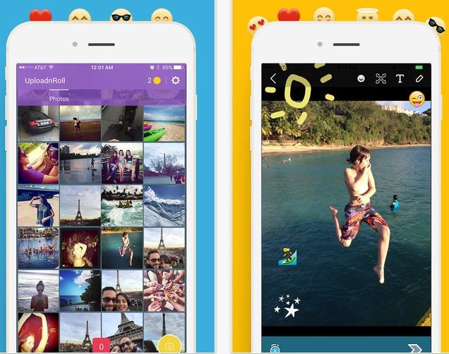 best way to Upload Camera Roll Pictures to Snapchat on iPhone