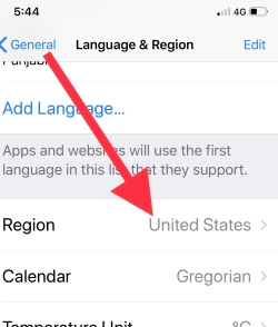 1 Change Region for Get News app on iPhone in iOS (1)