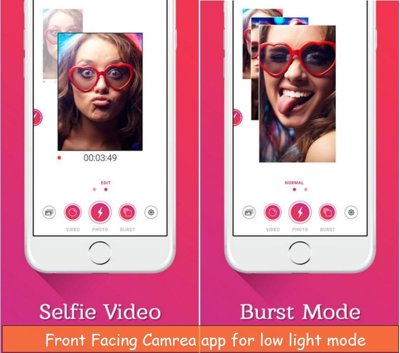 Take selfie picture in the dark with iPhone, iPad