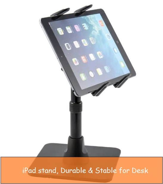 Secure counter stable stand for iPad