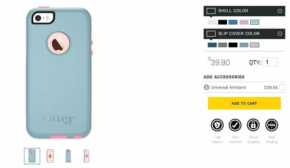 Online Custom iPhone SE Case maker from Otterbox