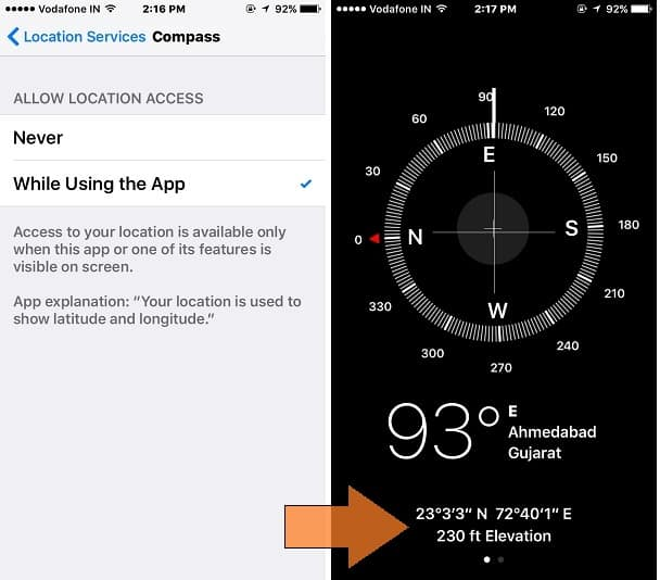 Get GPS coordinates of current location on iPhone or iPad: iOS 9