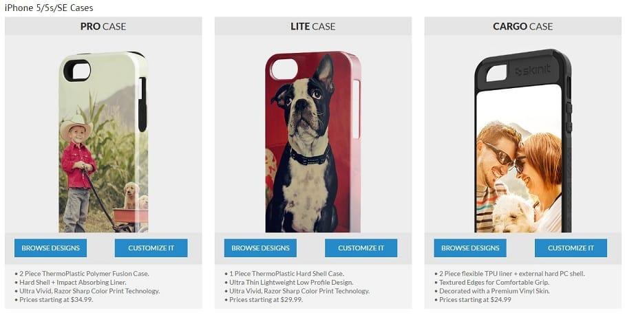 Skinit iPhone SE designer case