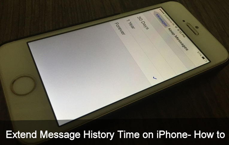Extend Message History iOS 10