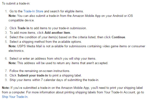 way to Sell old iPhone in Amazon trade-in program