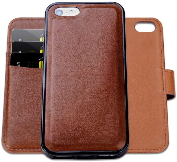 iPhone SE Leather Wallet Case