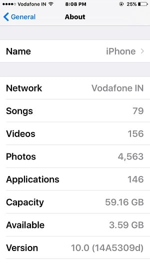 See Full Device Details about storage