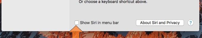 Siri icon hide on Mac menu bar