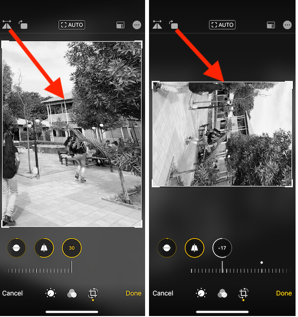 How to Flip Photo on iPhone Photos app