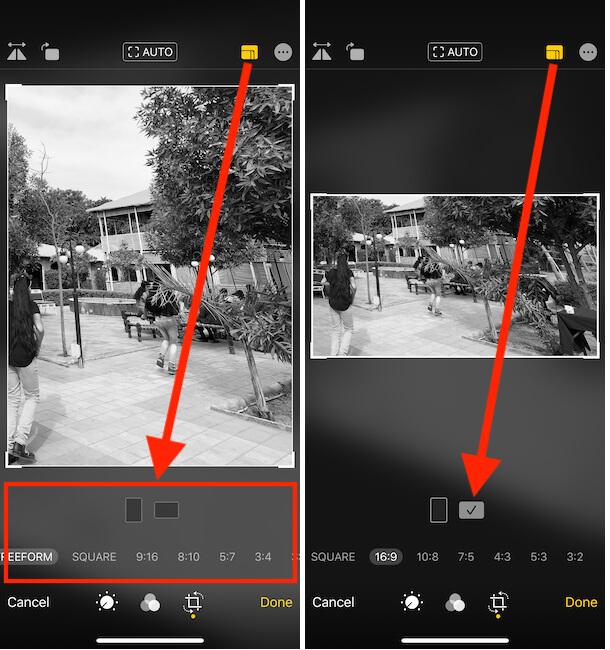 How to Set Aspect Ratio on iPhone Photos app