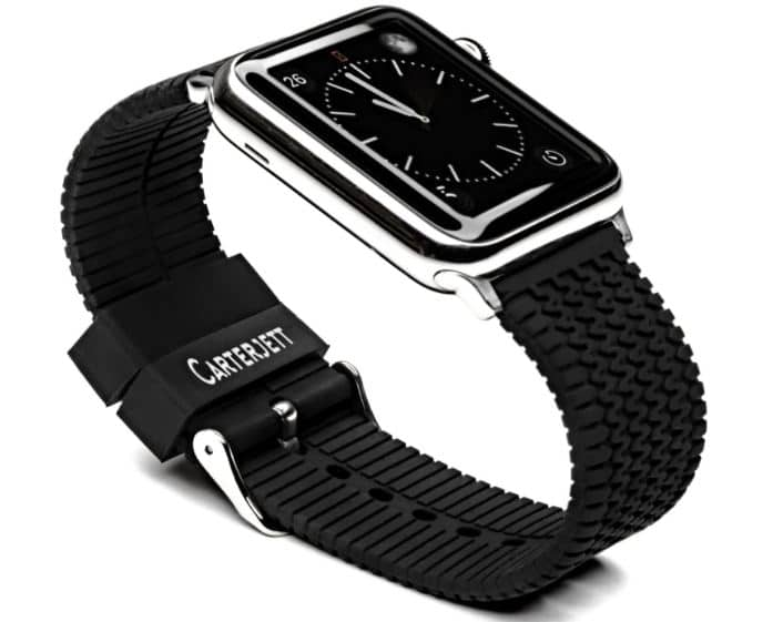 Silicon band and Steel Buckle for watches 38mm