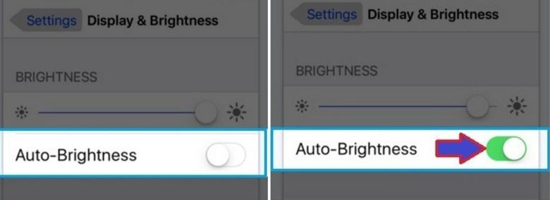 Turned on Auto-brightness
