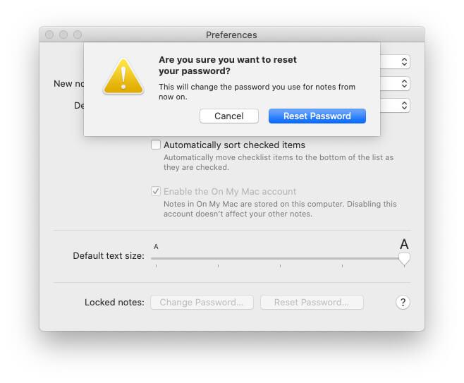 Go with Reset Password option on Macbook Mac