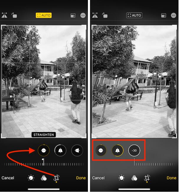 Resize-Crop Photo on iPhone and iPad- Photos App