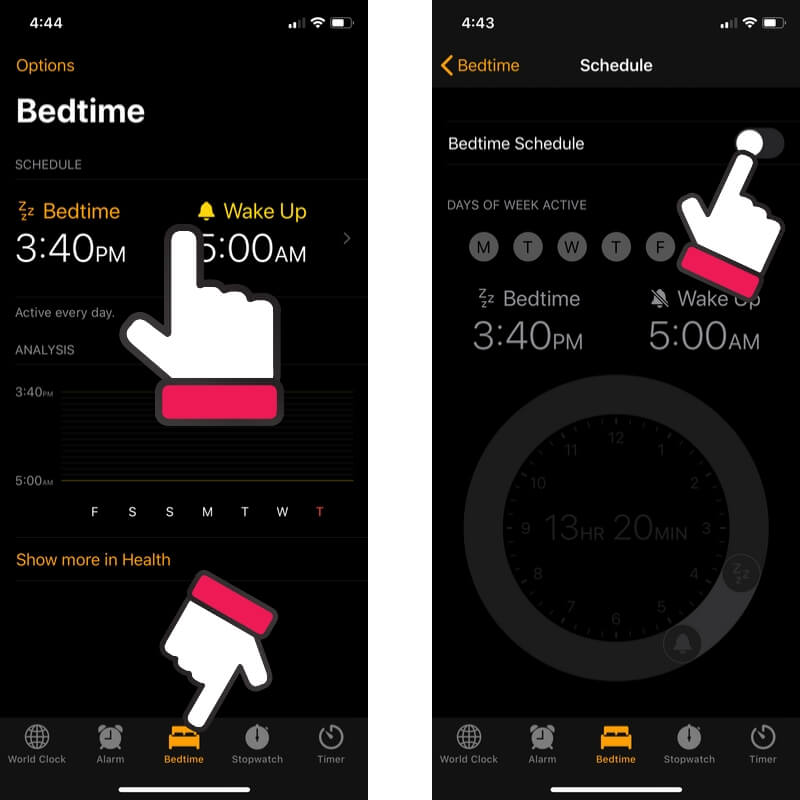 Turn off Bedtime Reminder on iPhone and iPad