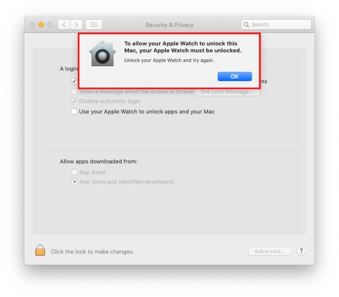 Unlock Apple Watch to Unlock Mac