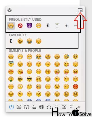Manage Favourite Emojis or Recently used emojis from window