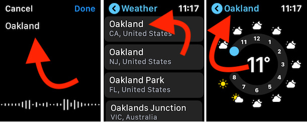 Add New City on Apple Watch Weather App
