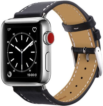 Leather Band for 42mm Apple Watch Sport Edition