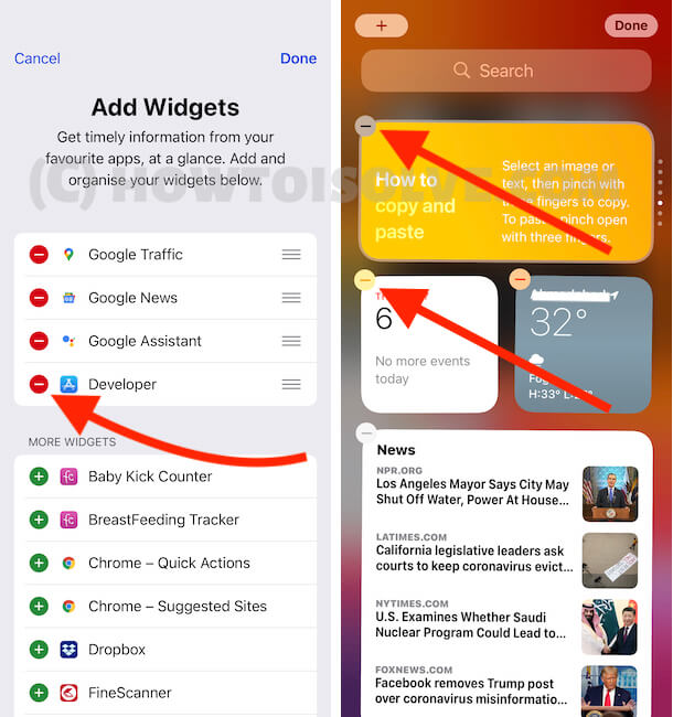 Remove or Add Smart Stack in Today Widget on iPhone