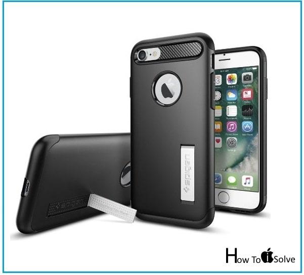iPhone 7 Kickstand case to watching video by Spigen
