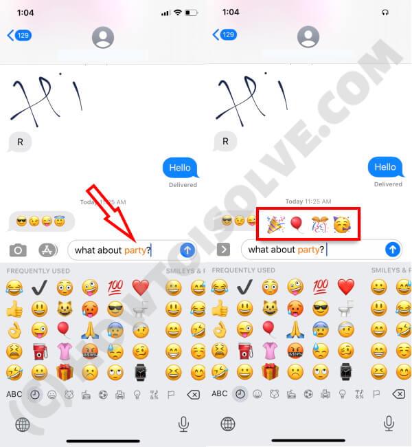 Use Predictive Emojis on iPhone,iPad