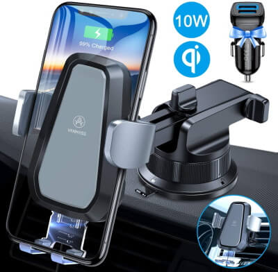 VANMASS iPhone Holder+Wireless Charger