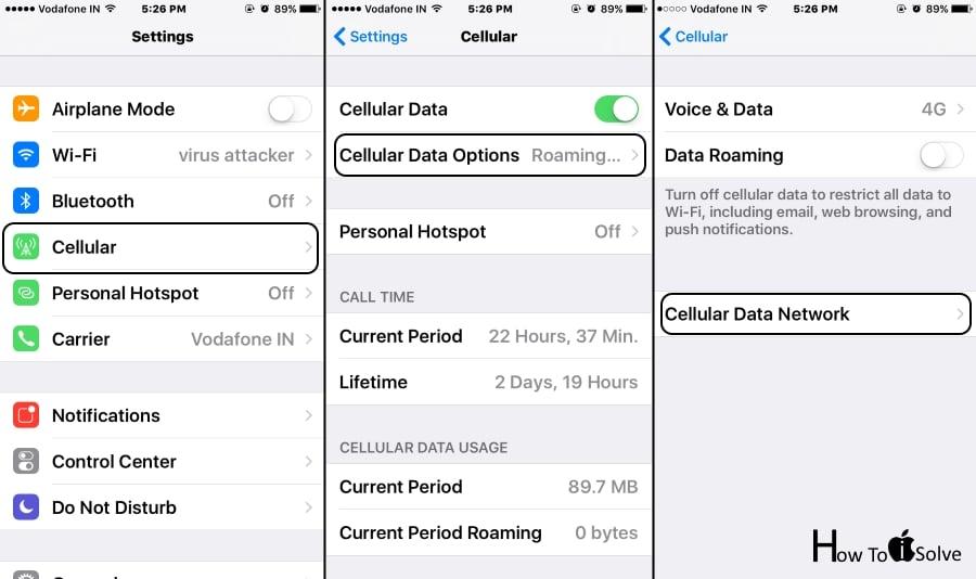 Update Cellular Data on iOS 10
