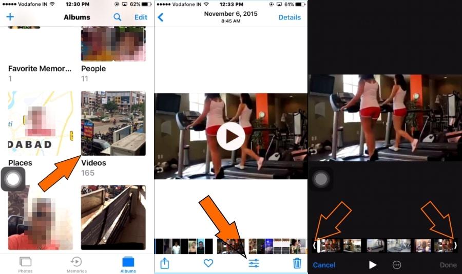 Trim video in iPhone 7 Plus or iPhone 7