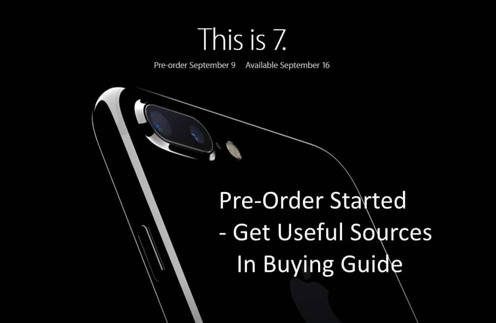 Pre order unlocked iPhone 7 in USA/ UK Buy at here from other online sources: iPhone 7 Plus