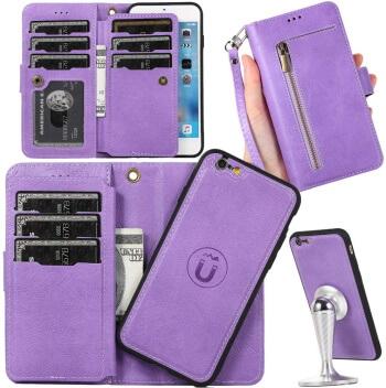 AUKER Women Wallet Case for iPhone 7