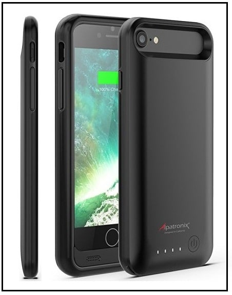Alpatronix Top battery case for iPhone 7