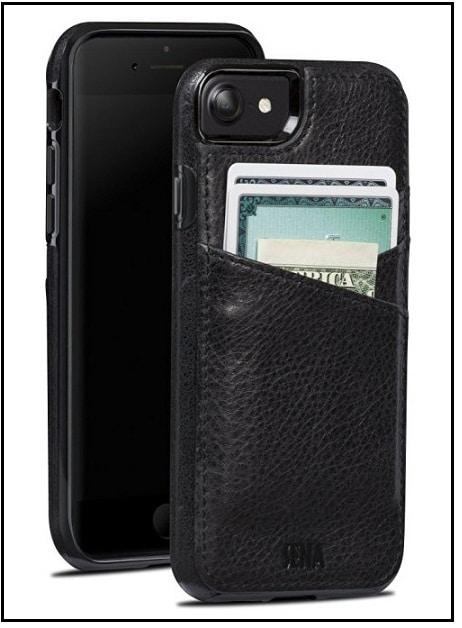 Drop Safe Leather Wallet case best iPhone 7 Sena case