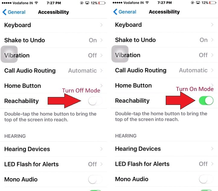 Disable or Turn Off Reachability on iPhone 7 Plus iOS 10